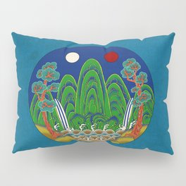 Minhwa: Sun, Moon and 5 Peaks: King's painting B_1 Type Pillow Sham