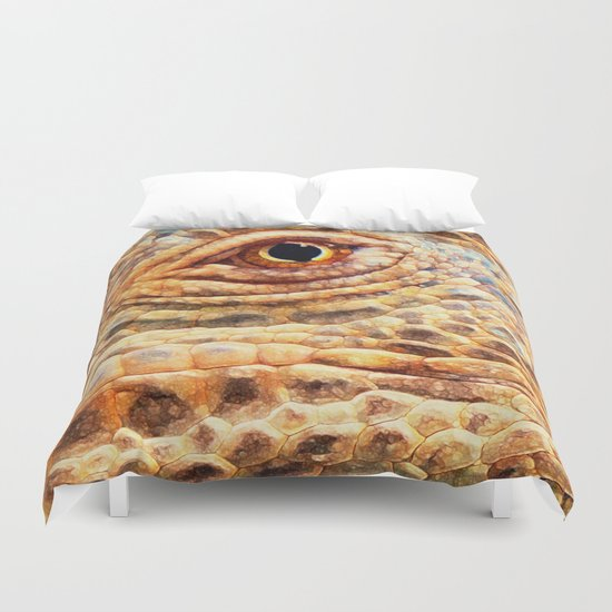 IGUANA ABSTRACT Duvet Cover