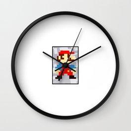 1up soda mario bros and gaming Wall Clock