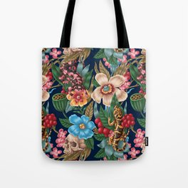 Lizzards and Skulls Tote Bag
