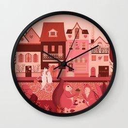 Neighborhood of love Wall Clock
