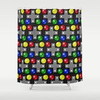 video games Shower Curtains featuring Fun and Games by This N That