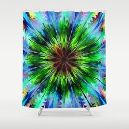 Tie dye 3 Shower Curtain