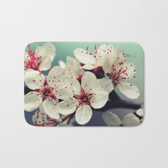 Cherry Blossom, Cherryblossom, Sakura, Vintage Style Bath Mat