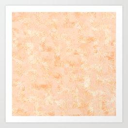 Botanic orange Art Print