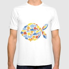 fish of fishes Mens Fitted Tee White MEDIUM