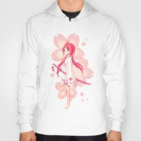 sakura Hoodies featuring Sakura by Freeminds