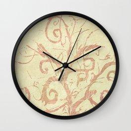 Beige Sandstone Vines Wall Clock