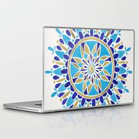 royal Laptop & iPad Skins featuring Royal Blue Mandala by Cat Coquillette