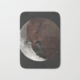 The crow and its moon. Bath Mat