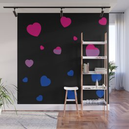 Chaotic Hearts, Pride Flag Series: Bisexual Wall Mural