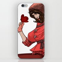 valentina iPhone & iPod Skins featuring Be my Valentina by LaurenceBaldetti