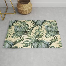 Palm Leaves Classic Linen Rug
