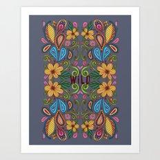 Bohemian Floral Art Print