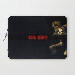 You Died Dark Soul Laptop Sleeve