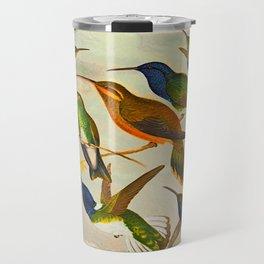 Translate Album de aves amazonicas - Emil August Göldi - 1900 Colorful Hummingbirds Travel Mug