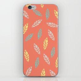 fall feathers iPhone Skin