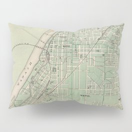 Vintage Map of Lafayette Indiana (1876) Pillow Sham