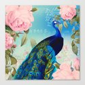 Peacock & Pink Roses  by julianarw