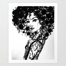 Black & White Ego Art Print