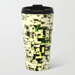 Abstract structure space ship intricate pattern background Travel Mug