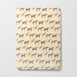 Animals pattern Metal Print