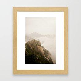 Golden Mountain Framed Art Print