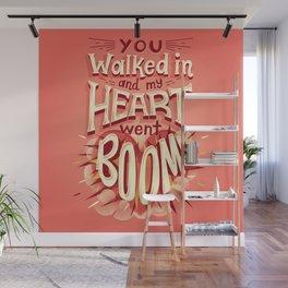 Heart went boom Wall Mural
