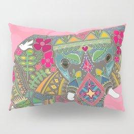 painted elephant pink spot Pillow Sham