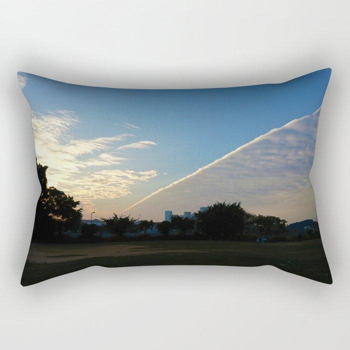 drama in the sky Rectangular Pillow