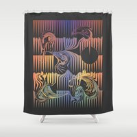 surf Shower Curtains featuring Surf by QUEQZZ