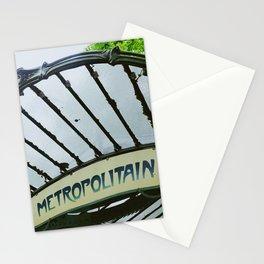 Metropolitain vintage Parisian sign near Montmartre - Fine Art Travel Photography Stationery Cards