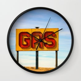 Gas Sign Wall Clock