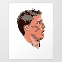tina crespo Art Prints featuring Hernan Crespo by The World Cup Draw