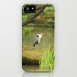 Golden Heron iPhone Case