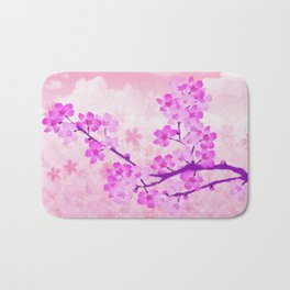 Cherry Blossom - Variation 4 Bath Mat