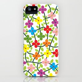 Spring white panel iPhone Case