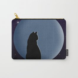 Black Cat in the Moonlight Carry-All Pouch