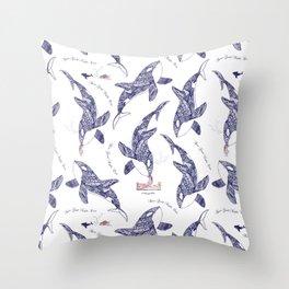 Kiss Good Night - Orca II Throw Pillow
