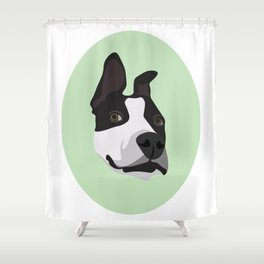 Silly Pitbull Shower Curtain