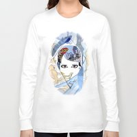 60s Long Sleeve T-shirts featuring '60s Eyes Collage with White Background- High Saturation by Katy Rose