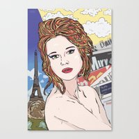 france Canvas Prints featuring France by • PASXALY •