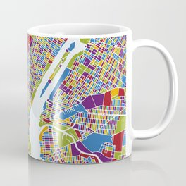 NEW YORK color map Coffee Mug