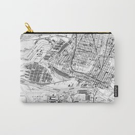Vintage Map of Oakland California (1959) BW Carry-All Pouch