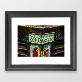 Ferguson Tractor Logo ~ Little Grey Fergie ~ Vintage ~ Ginkelmier Inspired Framed Art Print