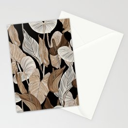 Lush lily - russet Stationery Cards