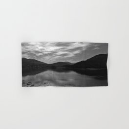 View over the Loch b/w Hand & Bath Towel