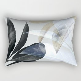 Moody Leaves II Rectangular Pillow
