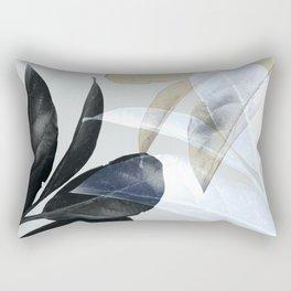 Moody Leaves II Rectangular Pillow