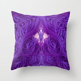 Purple Coils Throw Pillow